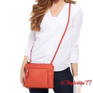 Tignanello Leather Tangerine Mini Crossbody Bag🔥